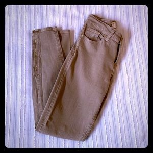 Paige Verdugo Ankle Skinny Jeans Light Brown Tan